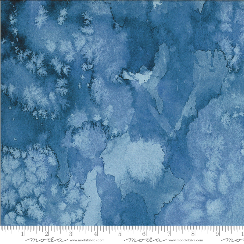 8433 26D Moody Bloom Digital Flow Indigo by the Create Joy Project for Moda
