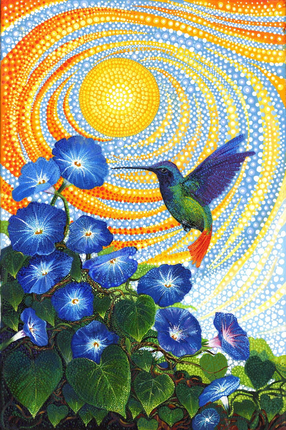 Dreamscapes - Morning Glory Hummingbird Panel