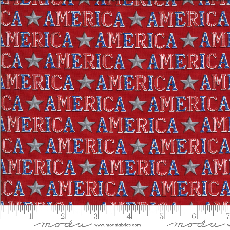 Moda, America The Beautiful, American Type, Barnwood Red