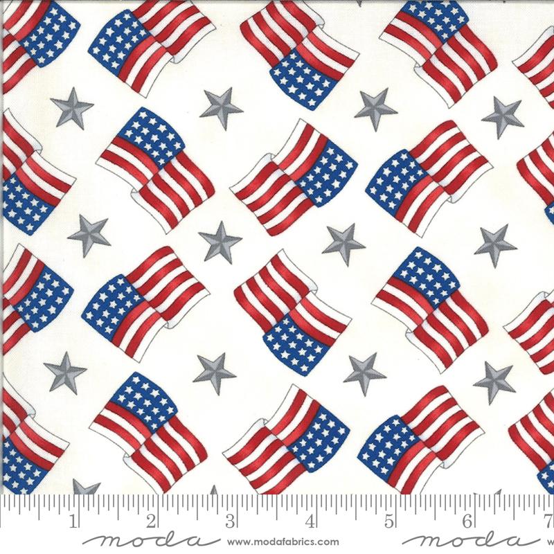 Moda, America The Beautiful, Flags Stars, White