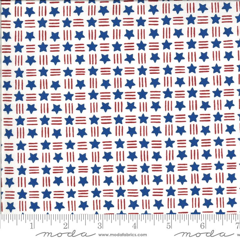 Moda, America The Beautiful, Stars Stripes, White