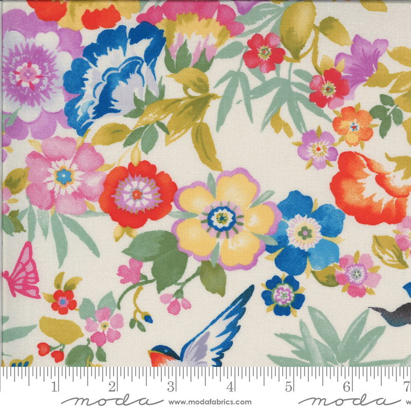 Lulu by Chez Moi for Moda Flights Of Fancy Linen