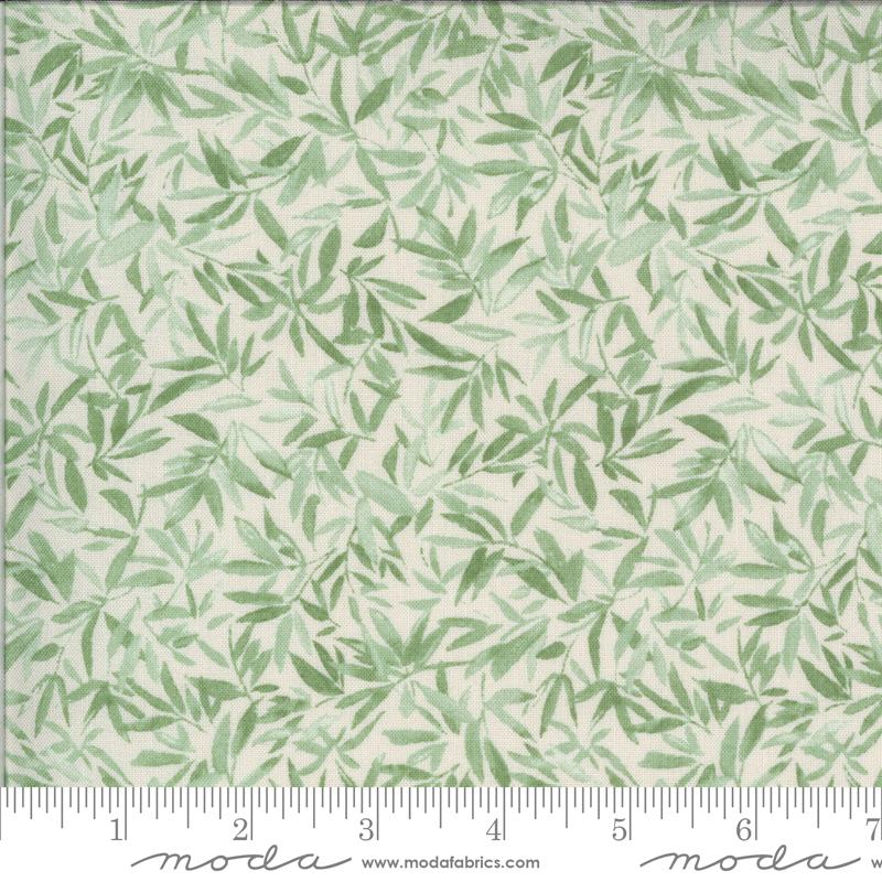 Lulu by Chez Moi for Moda Leaves Linen