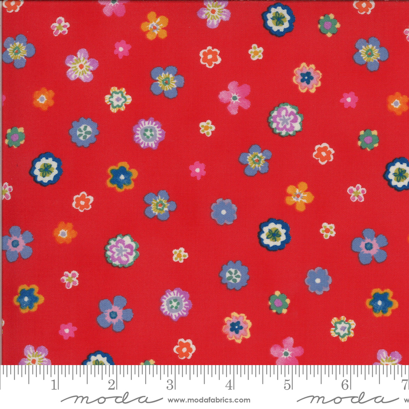 Lulu by Chez Moi for Moda - Flowers Geranium
