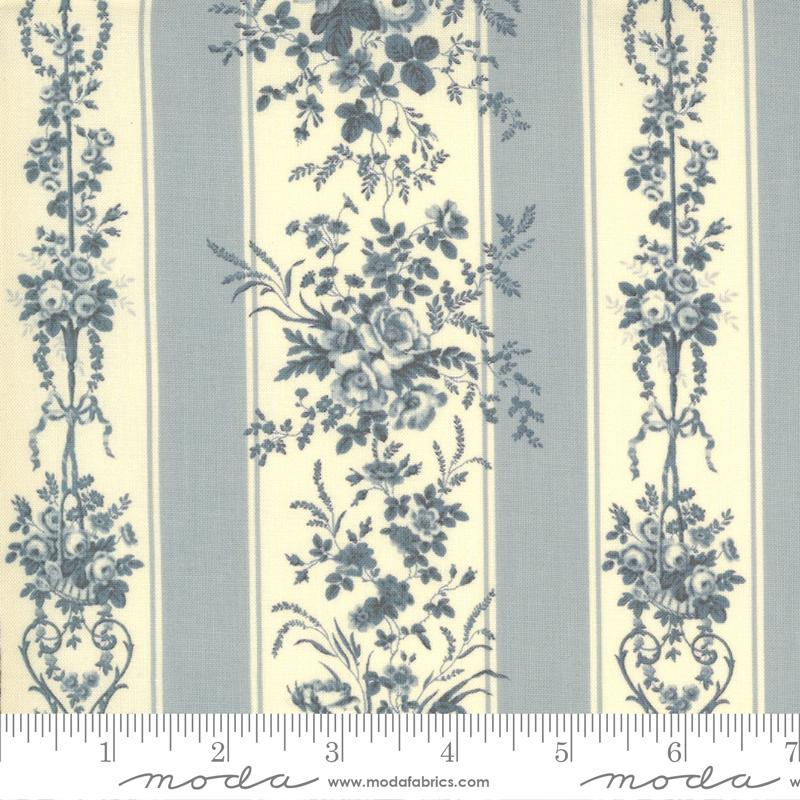 13891 18 Jardin De Fleurs Ciel Blue