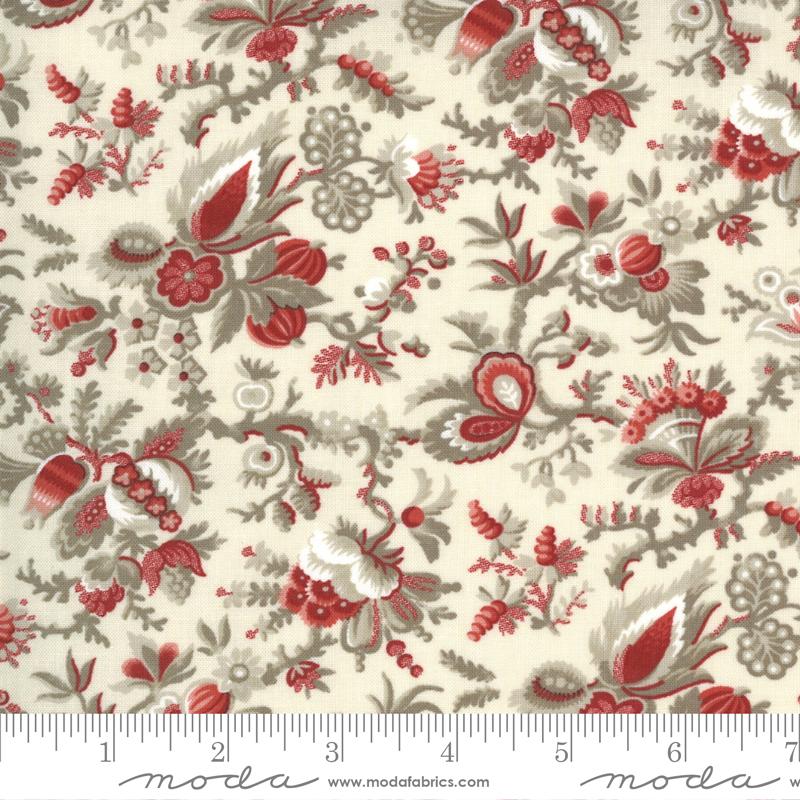 Fabric - Jardin De Fleurs Pearl - 13892 18