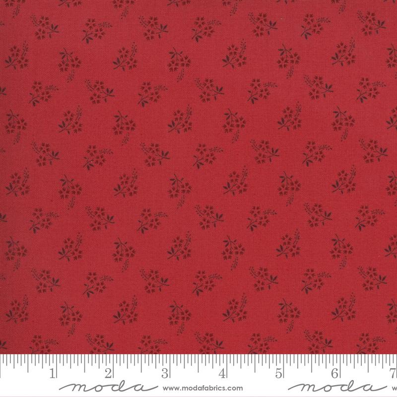 Fabric - Jardin De Fleurs Rouge 13897 12