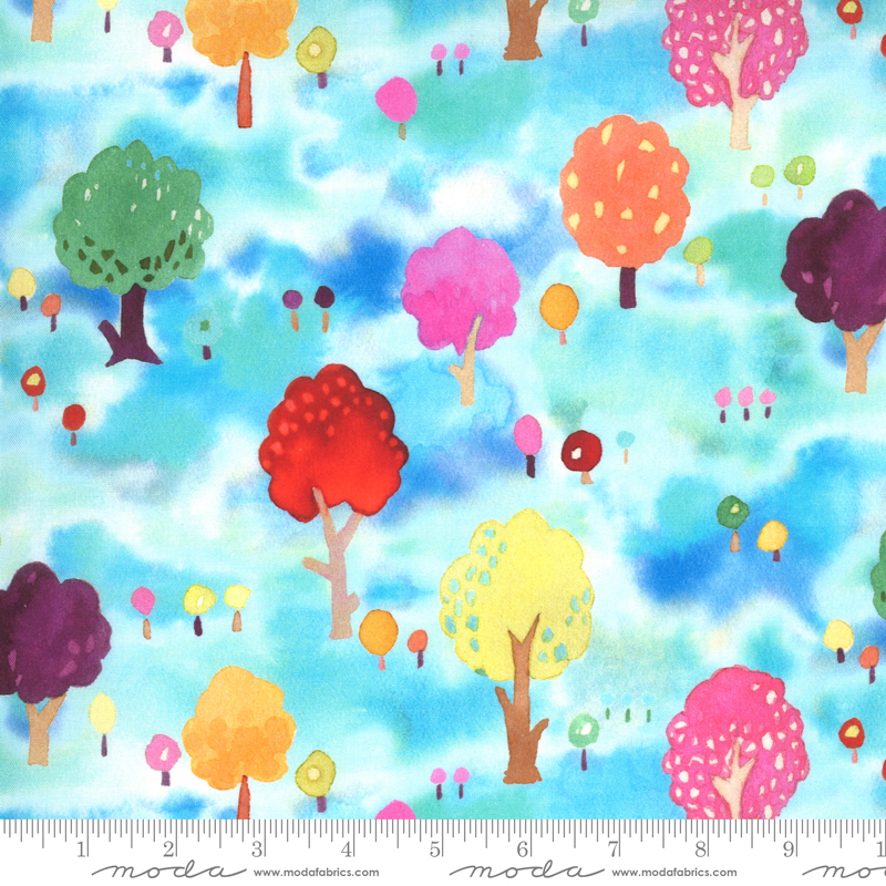 Fanciful Forest Medium Trees turquoise