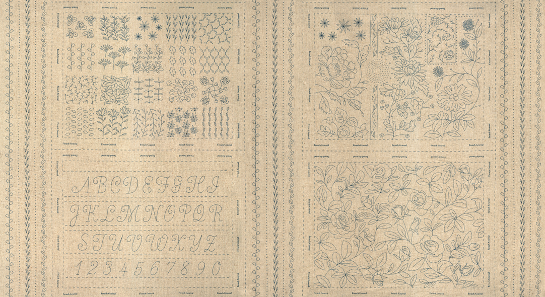 Panel - Broderie Linen 24 x 44