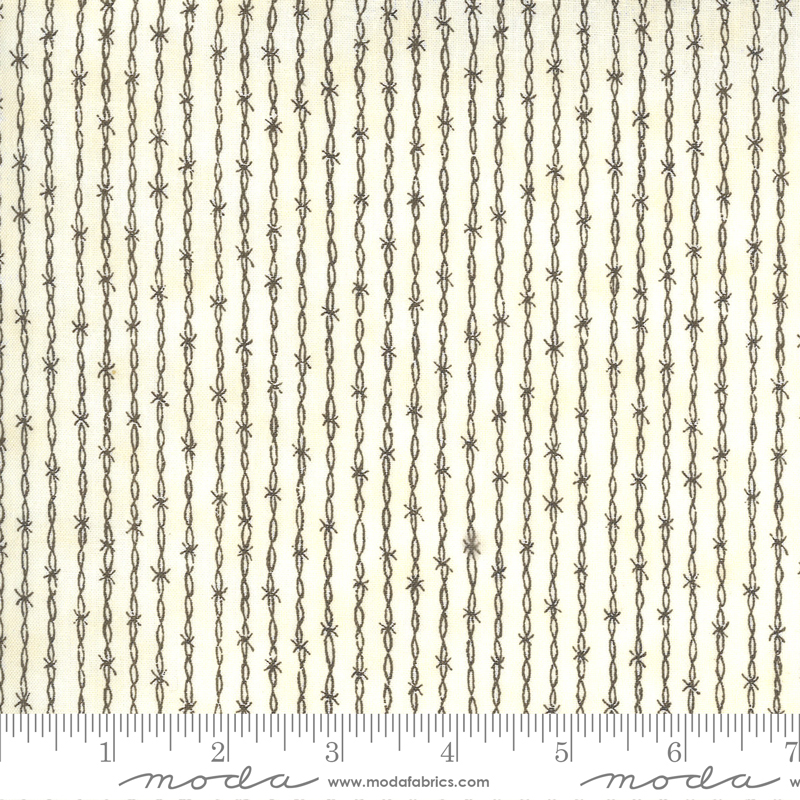 Barbed Wire Fabric - Dusty White Home On The Range Collection from Moda Fabrics