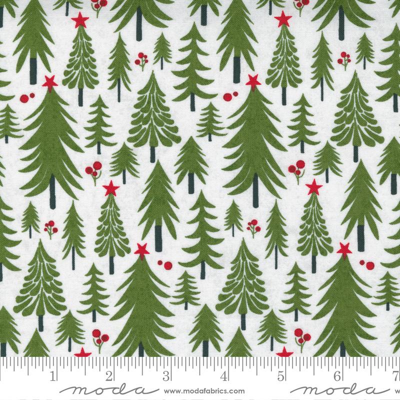 Toboggan Pine Trees White<br/>Moda 30662-12