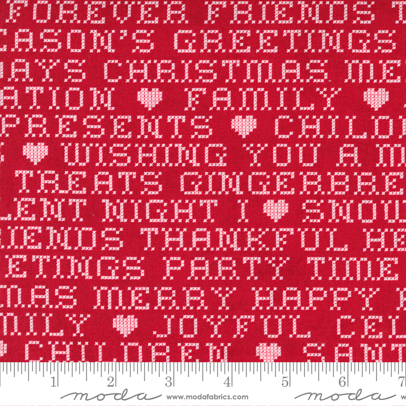 Christmas Words Candy Red<br/>Moda 30664-16