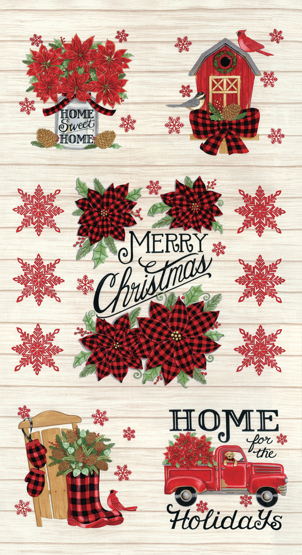 Home Sweet Holidays Panel White