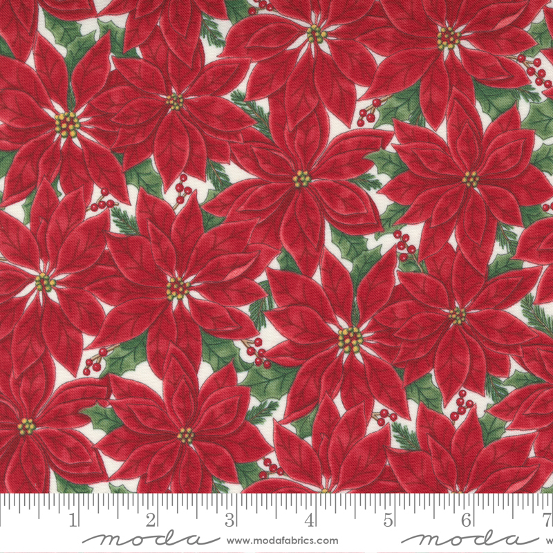 Home Sweet Holidays - Floral Poinsettia Red White