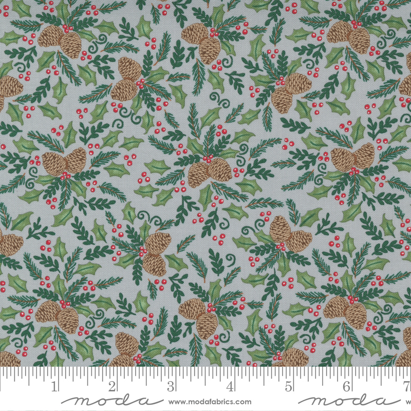 Home Sweet Holidays - Pinecone Holly Berry Grey