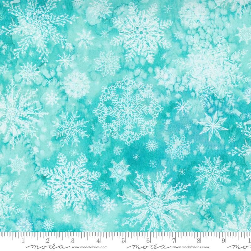 Starflower Christmas Flurry Aqua