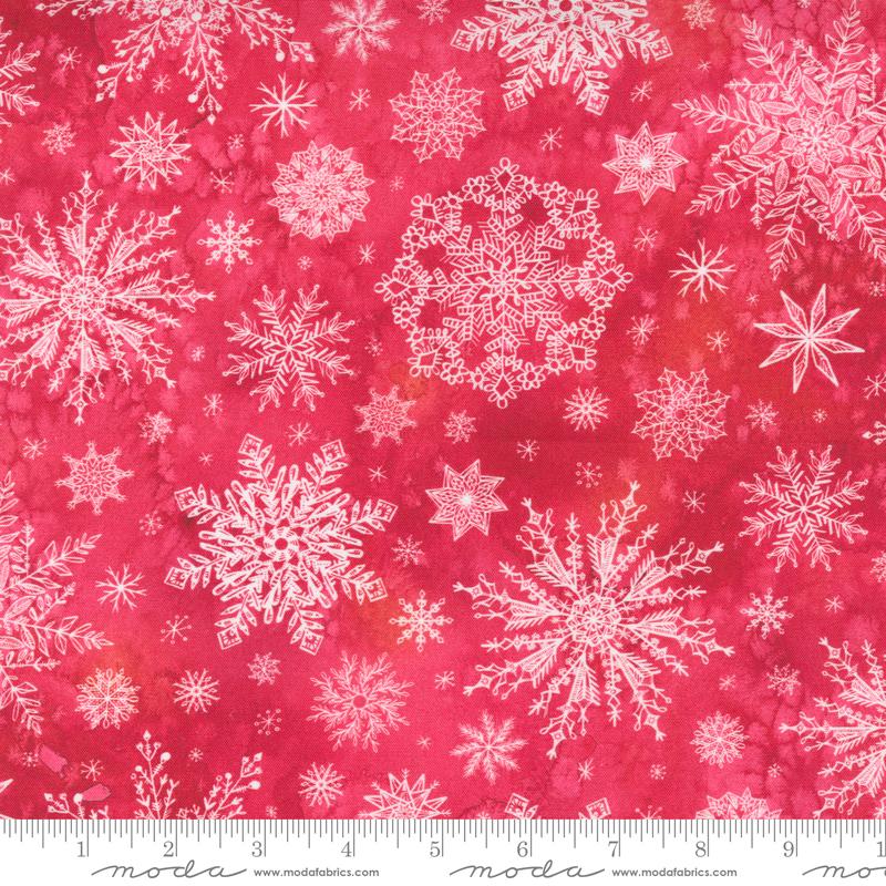 8483 16 Starflower Christmas Red