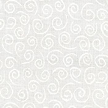 Muslin Mates Swirls White