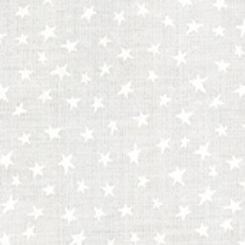Muslin Mates Stars White