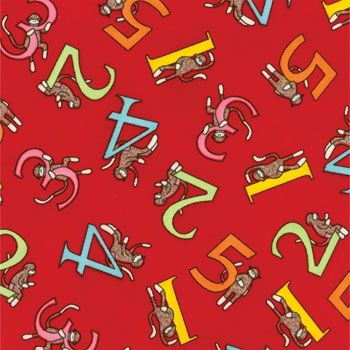 Funky Monkey Counting Red Flannel
