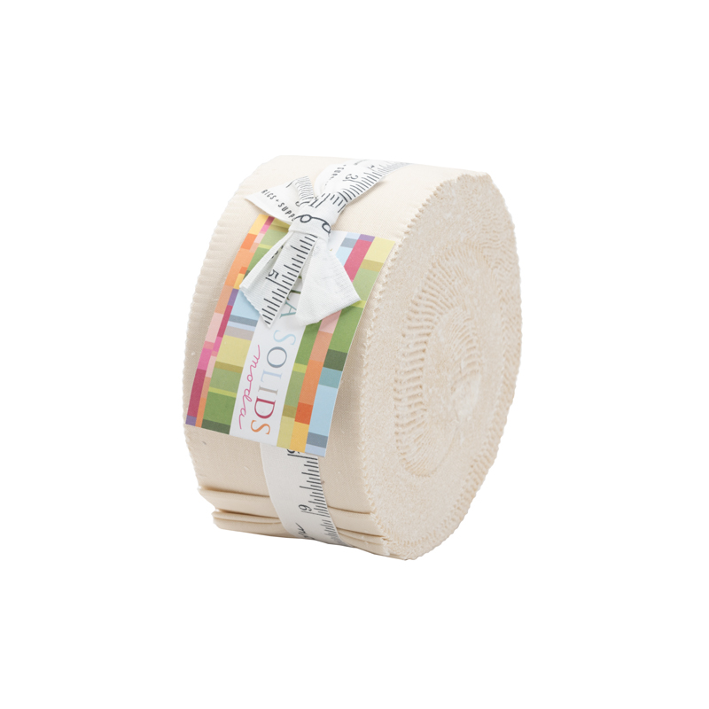 Bella Solids Jelly Roll Natural