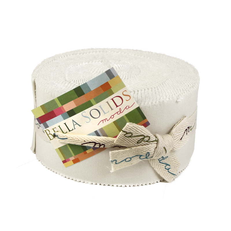 Bella Solids Jelly Roll® White