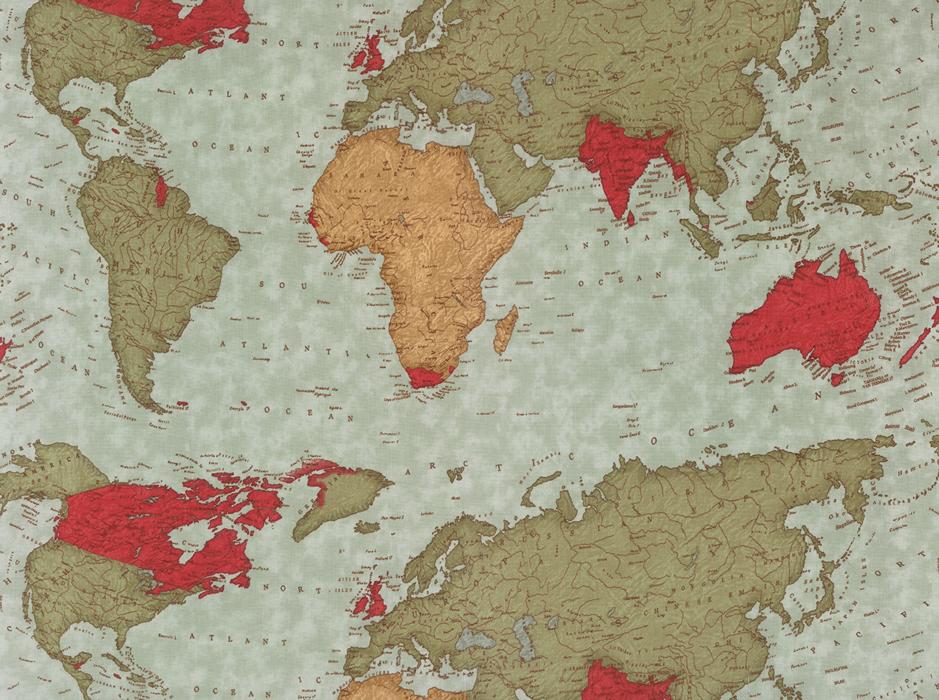 Passport World Map Multi