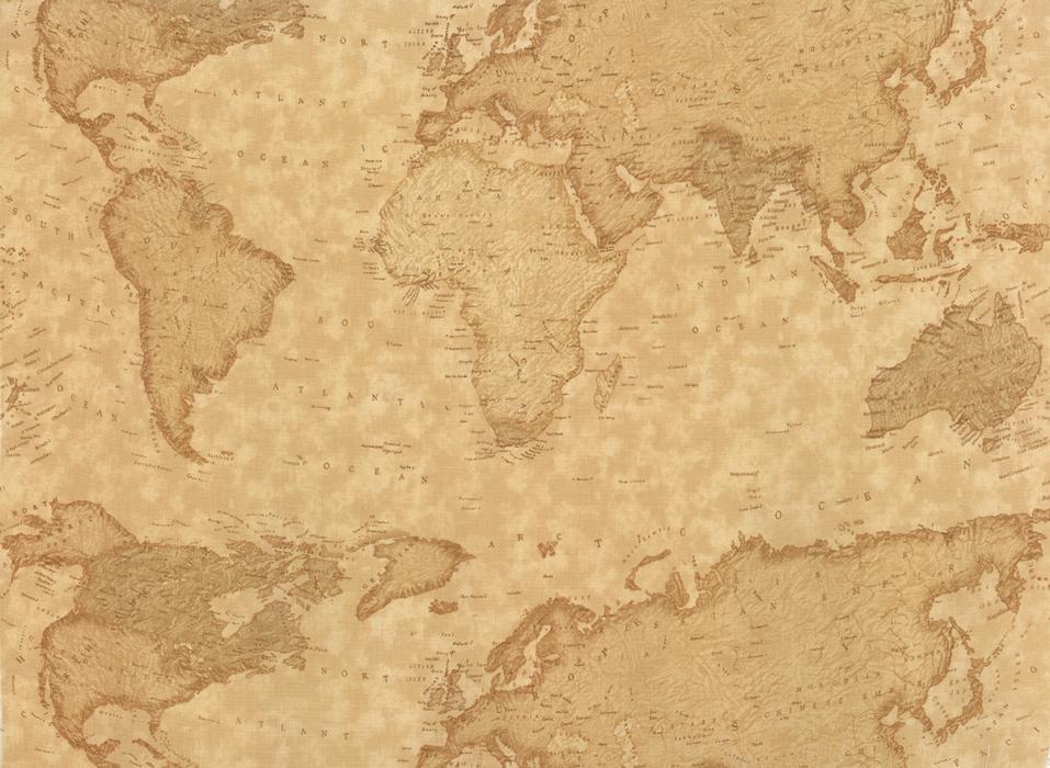 Passport Map Sand 3929 16