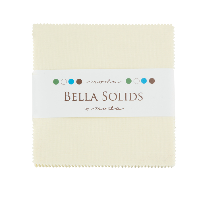 Bella Solids Charm Pack Snow