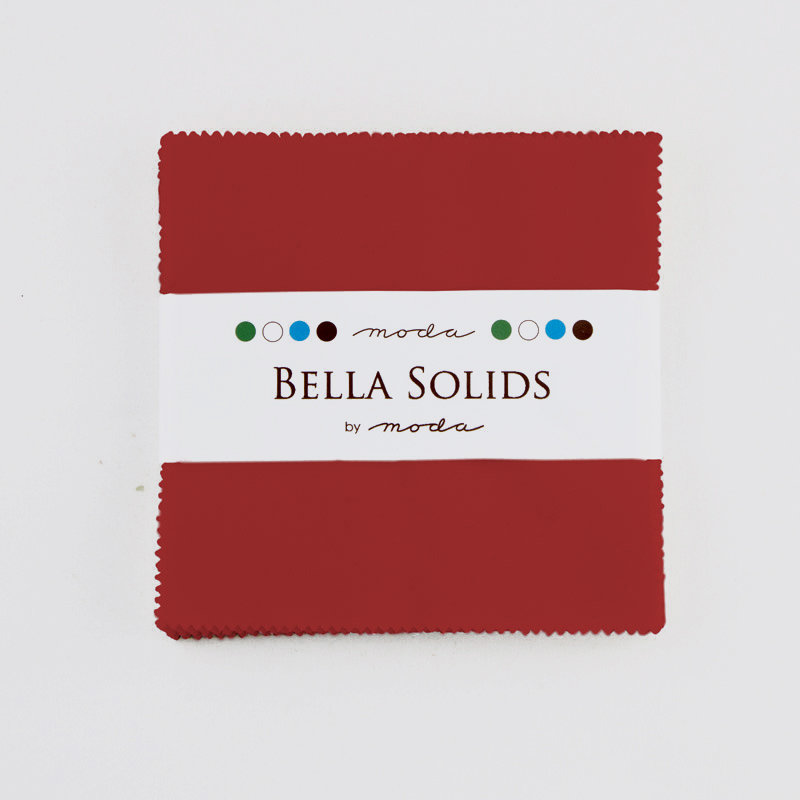 Bella Solids Charm Pack Christmas Red