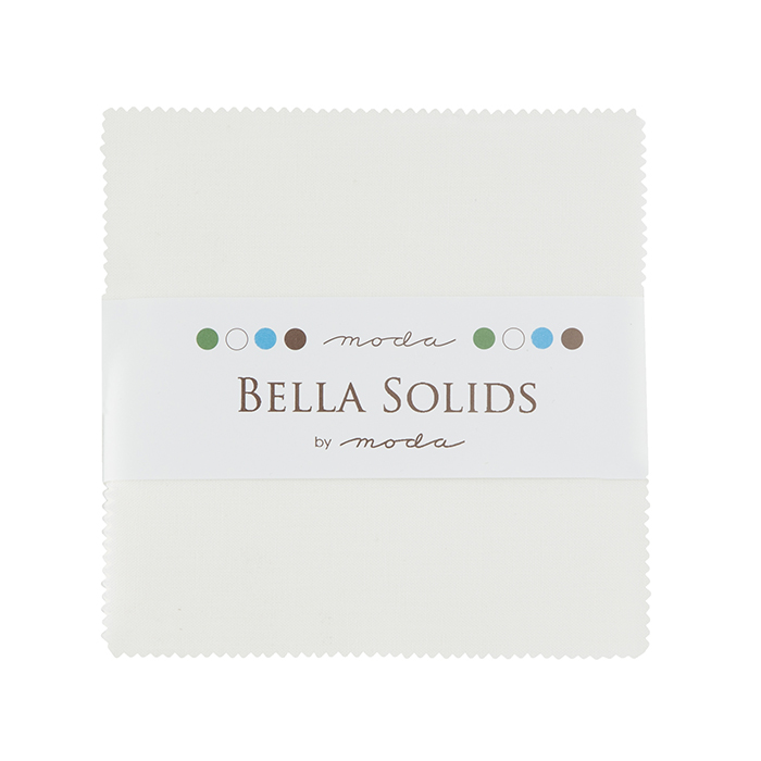 Bella Solids - White Charm Pack