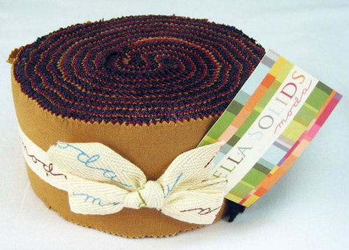 Bella Solids Jelly Roll Darks