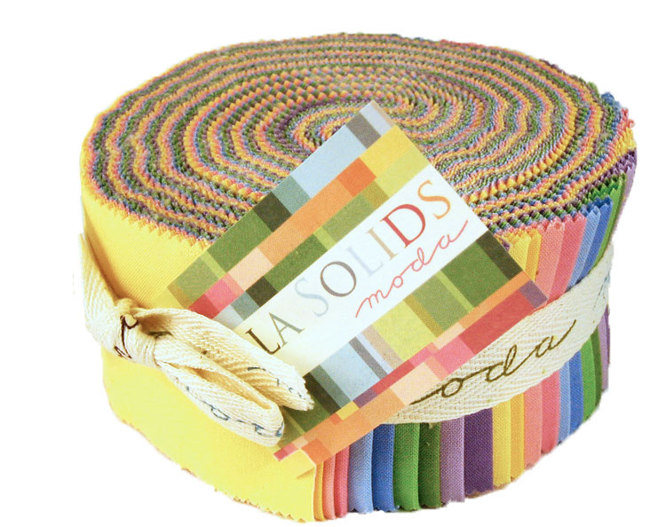 Bella Solids Jelly Roll 30s Co