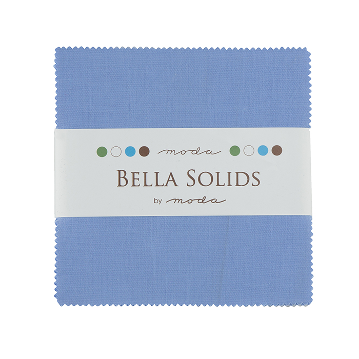 Bella Solids Charm Pack 30s Blue