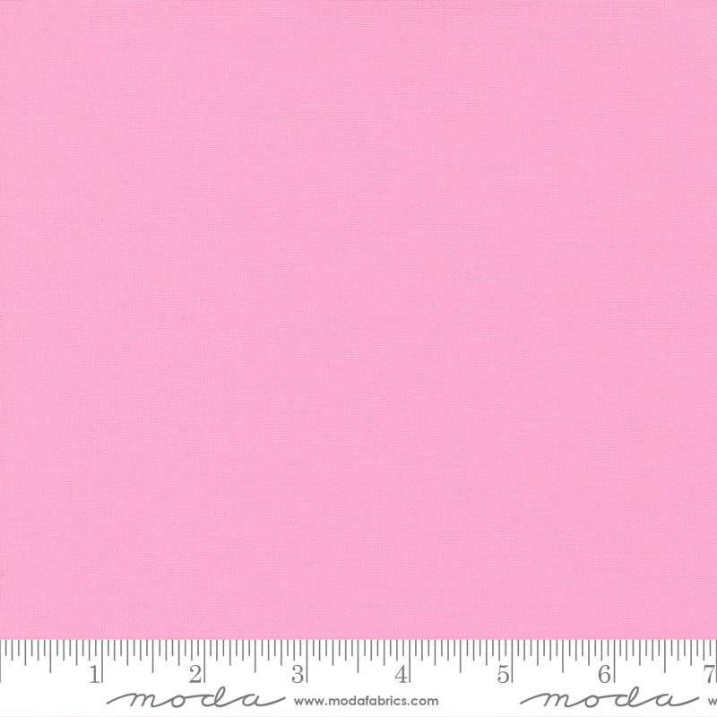 Bella Solids Fabric - Amelia Pink by Moda Fabrics