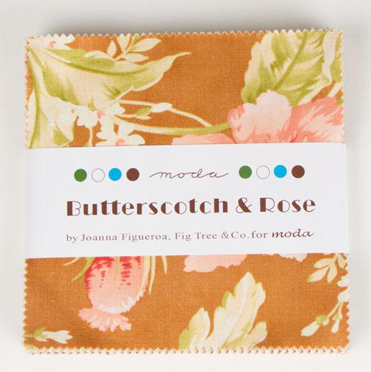 Butterscotch Roses Charm Pack by Fig Tree