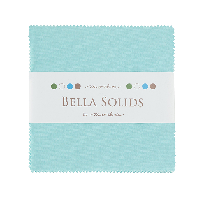 Bella Solids Charm Pack Robin's Egg Blue by Moda 9900PP-85