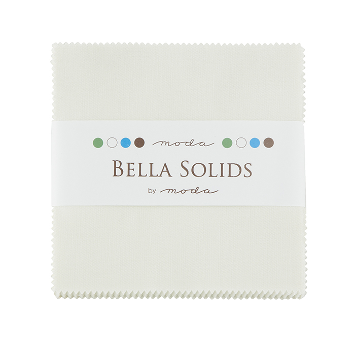 Bella Solids Charm Pack Porcelain