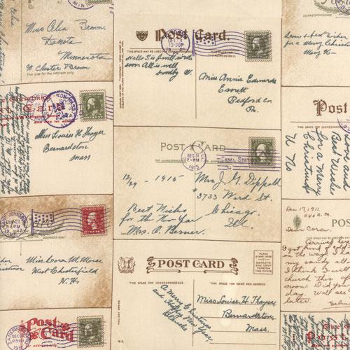 Passport Postcards by 3 Sisters for Moda - Parchment