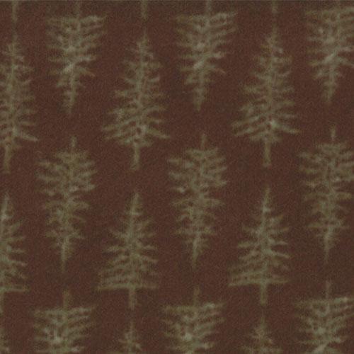 Shaded Oaks Flannel Brown