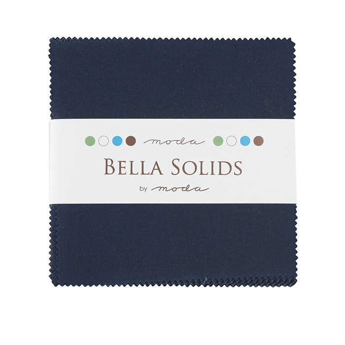 Bella Solids Charm Pack Navy 9900PP 20