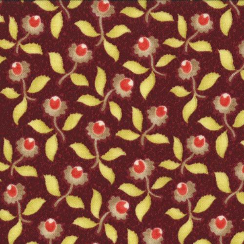 Tapestry Yasmin Garnet floral on maroon