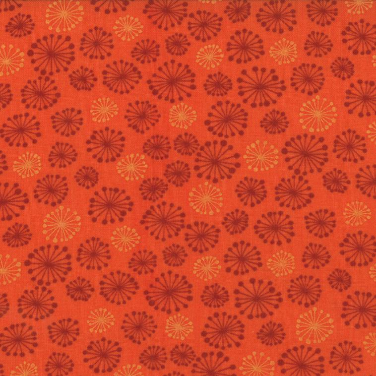 17738 27 Posh Pumpkins by Sandy Gervais for Moda. 100% cotton 43 wide