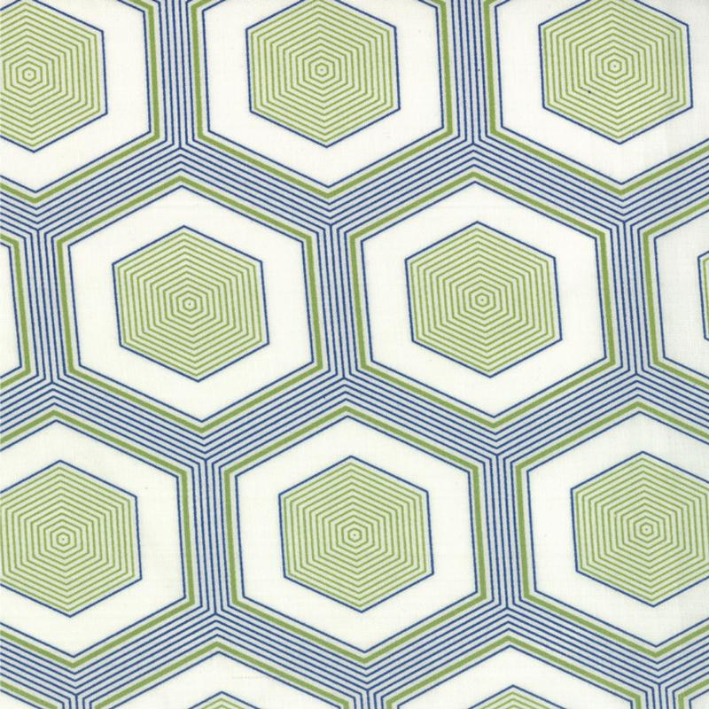 Simply Style Green Navy Blue Hexagons