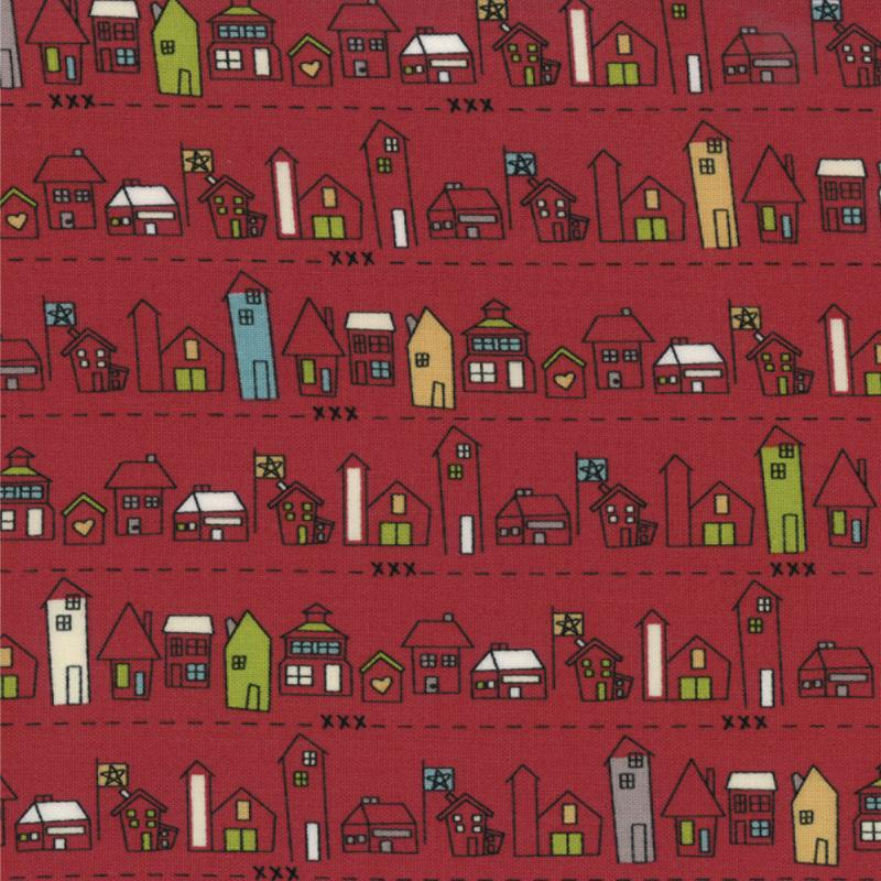 Road 15 Main Street Apple Red 5/8 yd