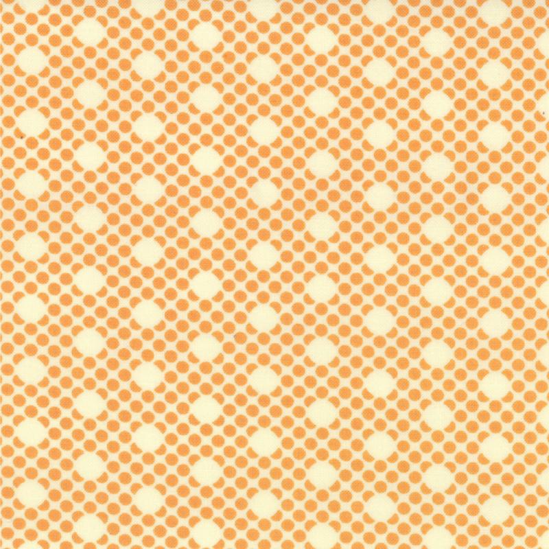 Scrumptious Dot Orange 1/2 yd