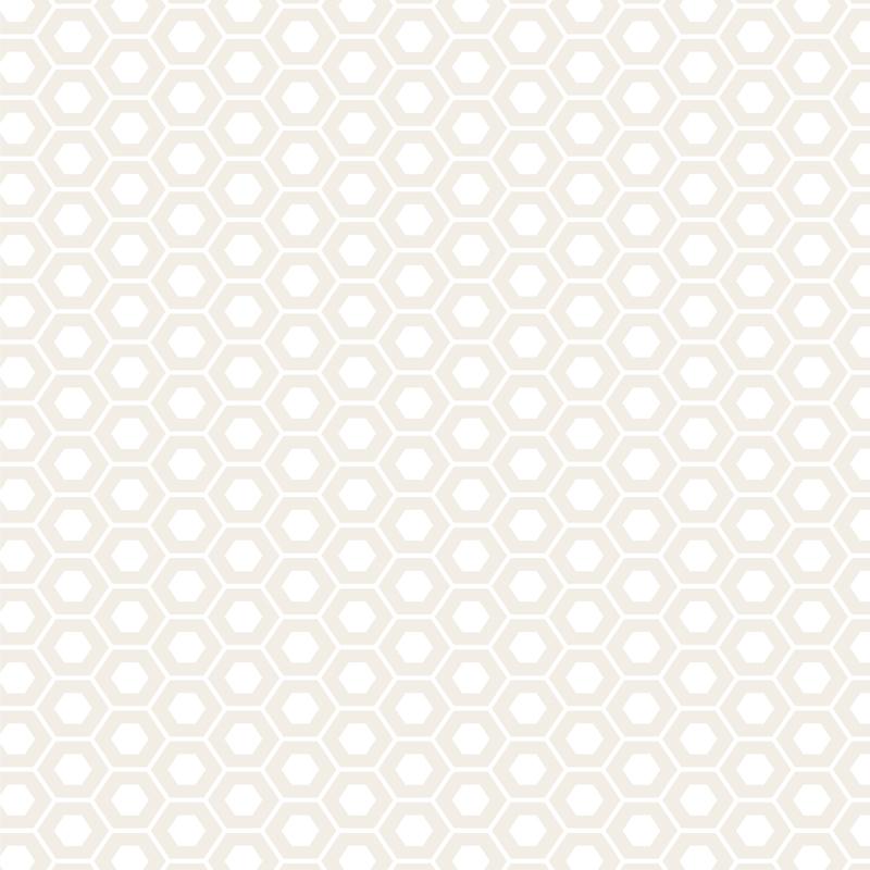 Muslin Mates Hexagons White