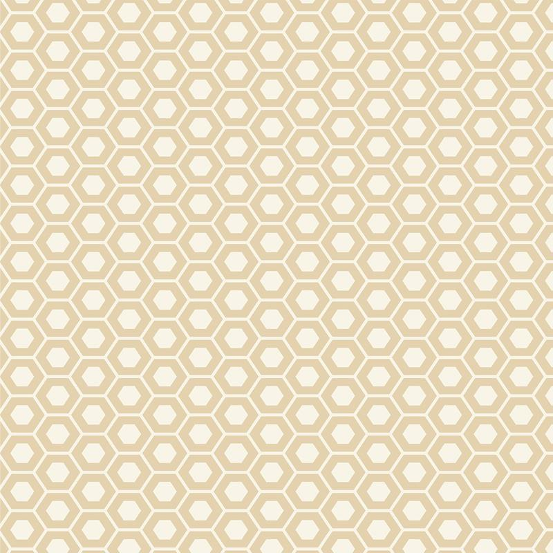 9970 12 Natural Muslin Mates Hexagons Moda