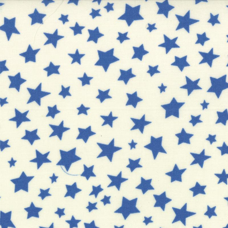BARTHOLOMEOWS REEF BLUE STARS ON CREAM 3953321 Moda