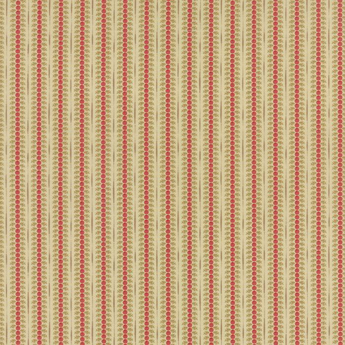 Autumn Lily Rosy Red Stripe Yardage